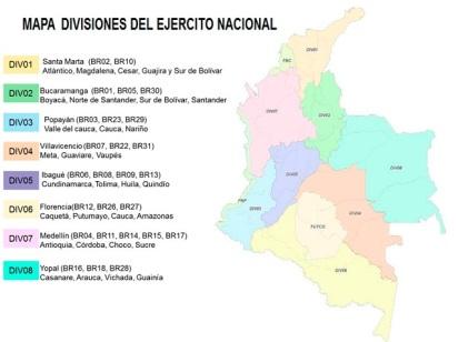 mapa divisiones
